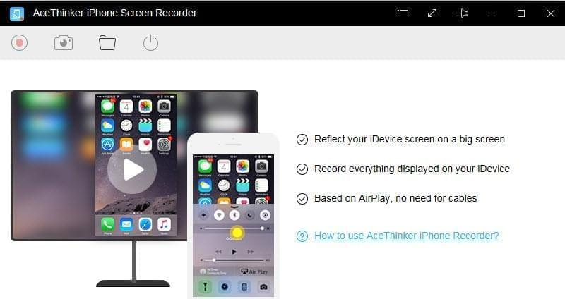 iphone screen recorder interface