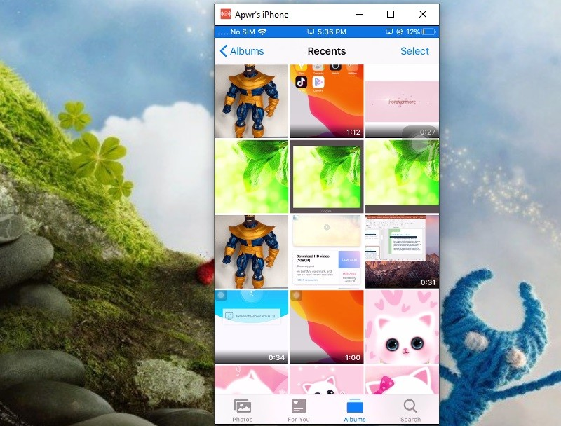 mirror iphone to pc with mirroring360