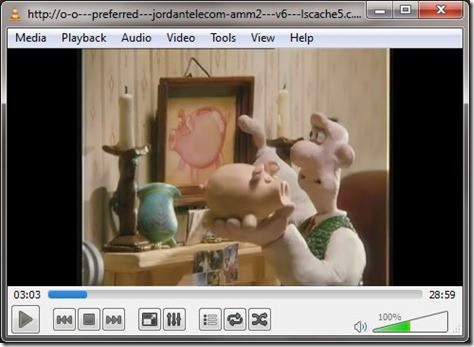 VLC Playing YouTube Video