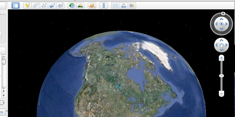 interface of google earth pro
