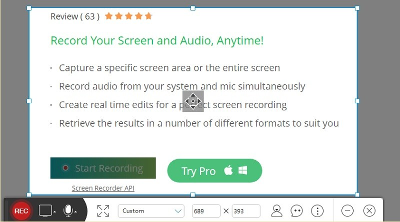 free screen recorder homepage