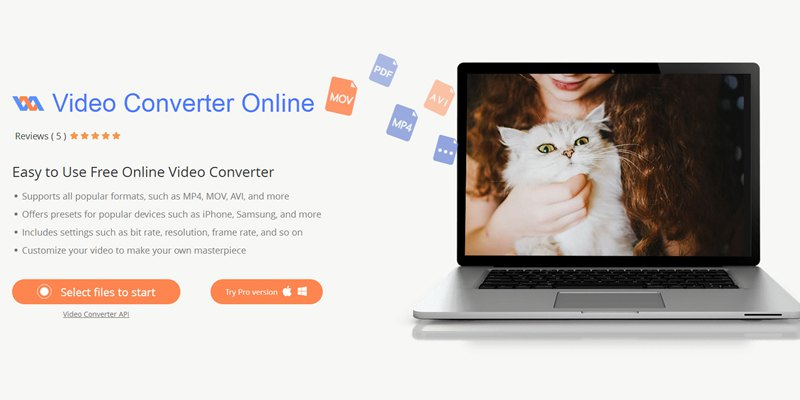 Online Video Converter Main Page