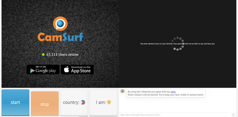 camsurf page
