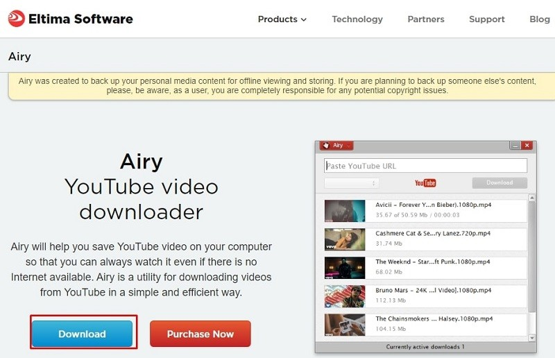 Install airy downloader