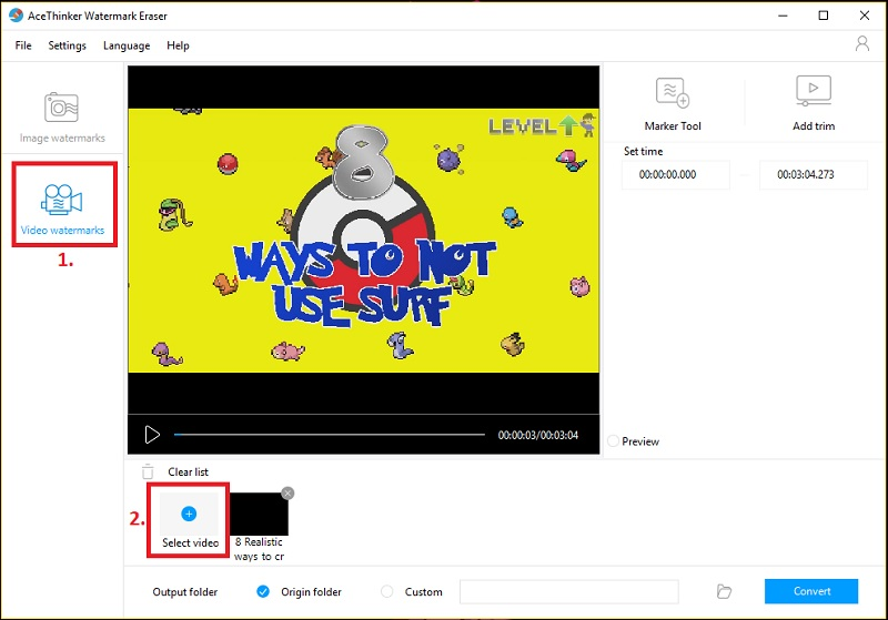 remove watermark from vid step 2