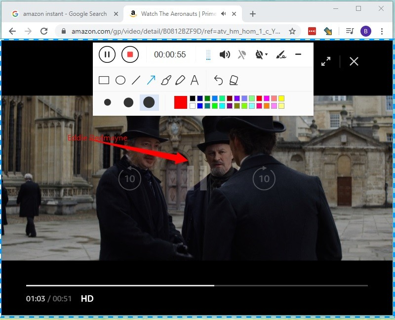 annotate while recording