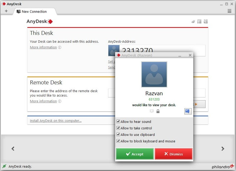 anydesk interface