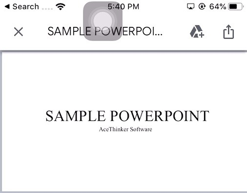 control powerpoint