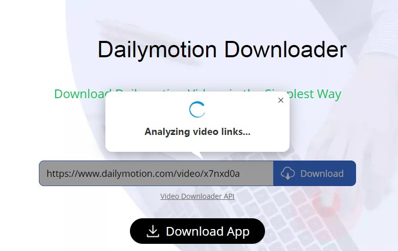 analyze dailymotion video link