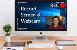 record screen and webcam