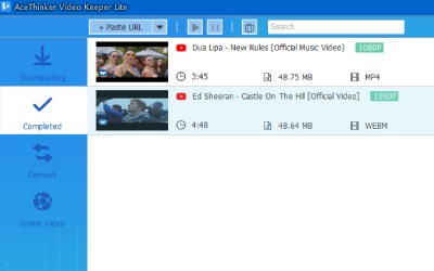 check downloaded video