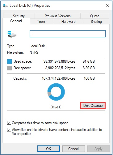 obs disk cleanup